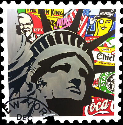 Boudro, 'Liberty: NY December (Stamp)'