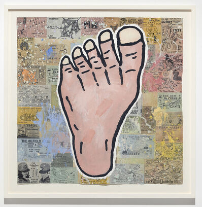 Donald Baechler, 'Foot', 2017