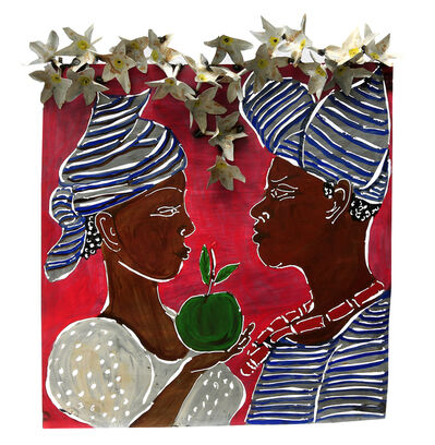 Sokari Douglas Camp, 'Eve's Conversation (hat with flaps), from the Frangipani series', 2017