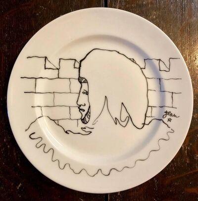 Jean Cocteau, 'Porcelain Plate With Cocteau Art Deco Surrealist Design Drawing Christofle', 1950-1959