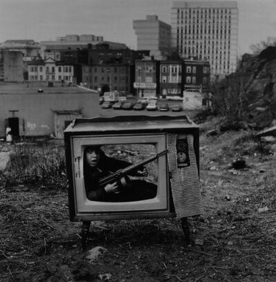 Arthur Tress, 'Boy in TV set, Boston', 1972