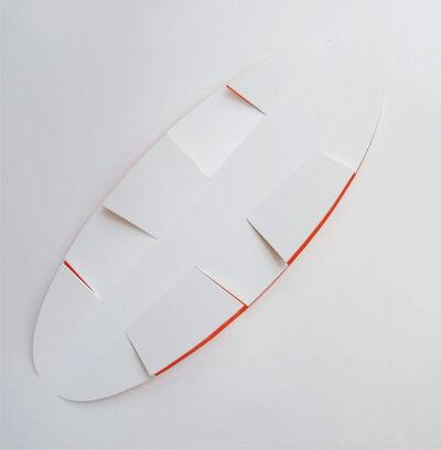 Juan Mejía, 'Signs No.8 - White / Orange', 2013
