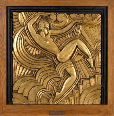 Maurice Picaud, 'Gilded Gesso Relief Panel', circa 1930