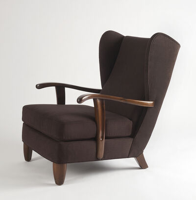 Osvaldo Borsani, 'Rare, Open-Arm Lounge Chair', c. 1946