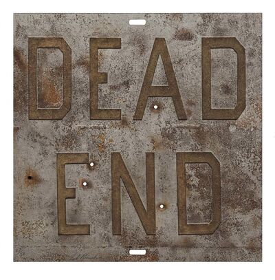 Ed Ruscha, 'Rusty Signs - Dead End 1', 2014