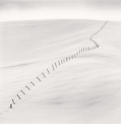 Michael Kenna, 'Hillside Fence, Study 7, Teshikaga, Hokkaido, Japan', 2004 (printed 2019)