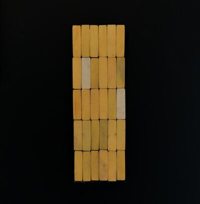 Luis Romero, 'Yellow/White (Estela)', 2019