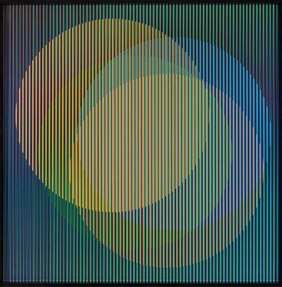 Carlos Cruz-Diez, 'Cromointerferencia espacial 36', 2015-1964