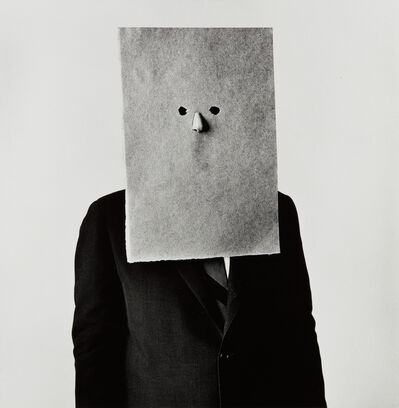Irving Penn, 'Steinberg in Nose Mask, New York', 24380-printed 1984