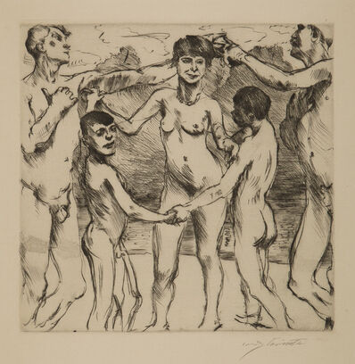 Lovis Corinth, 'Tanzende Am Strande (Dancing on the Beach)', 1917