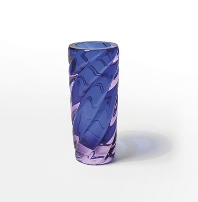Archimede Seguso, 'A twisted ribbed glass submerged vase', 1960