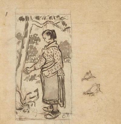 Camille Pissarro, 'Femme aux poules', ca. 1884