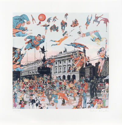 Peter Blake, 'Piccadilly Circus - The Convention Of Comic Book Characters', 2012