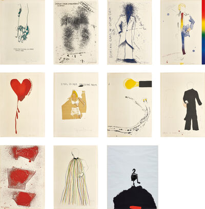 Jim Dine, 'The Portrait of Dorian Gray by Oscar Wilde; and Tool Box: one plate', 1963; and 1966
