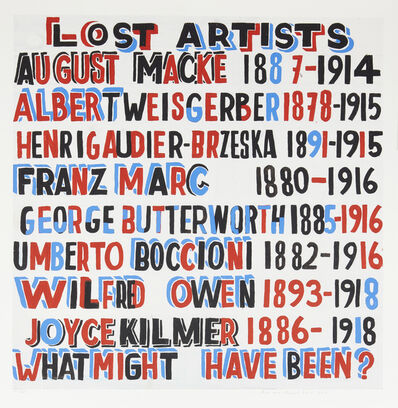 Bob and Roberta Smith, 'Lost Artists', 2014