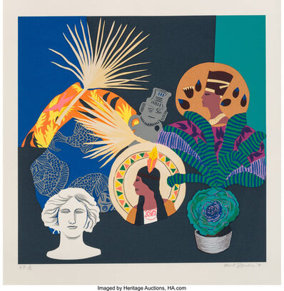 Hunt Slonem, 'Three Goddesses and a Fallen God', 1981