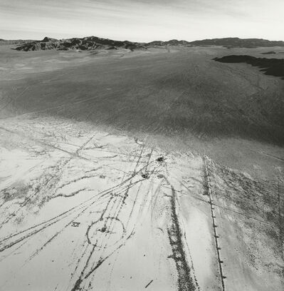 Emmet Gowin, 'The Eastern Edge of Frenchman Flat Showing the Transition from Alluvial Wash to Dry Lake Bed, Looking East, Area 5, Nevada Test Site', 1997