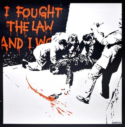 Banksy, 'I Fought the Law ', 2004