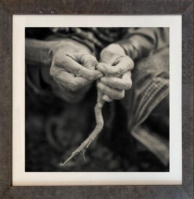 Nicol Ragland, ''GATHERING HANDS,' Hadzabe Tribe, Tanzania, Black and White Photograph by Nicol Ragland', 2015