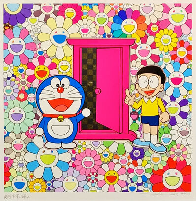 Takashi Murakami, 'Anywhere Door (Dokodemo Door) in the Field of Flowers', 2018