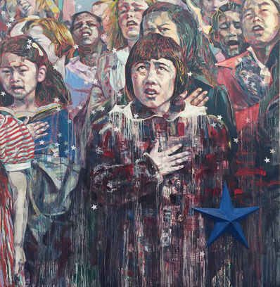 Hung Liu, 'Pledge of Allegiance 1942', 2019