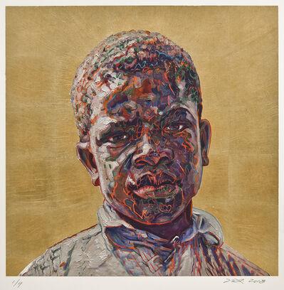 Hung Liu 刘虹, 'Clarence Weems (Gold) 1/9'