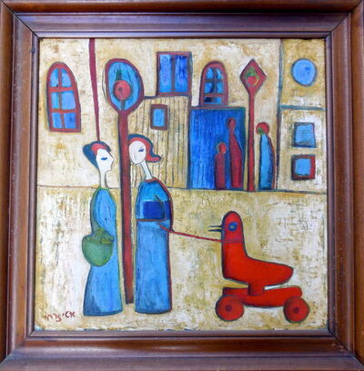 Etti Zarchi, 'Two Woman with Childs Toy', 1940-1949