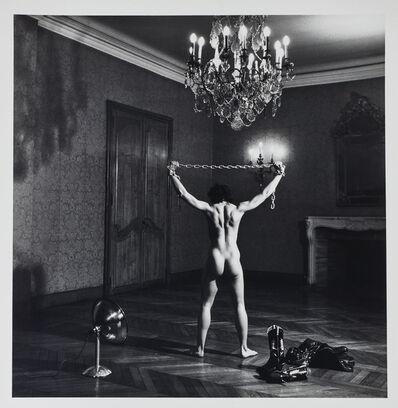 "Helmut Newton, '""Lisa Lyon in Paris IV""', 1980"