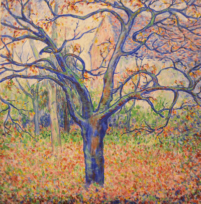 Theodore Earl Butler, 'Blue-Tree- Winter-by-Theodore-Earl -Butler-Garden -Giverny'