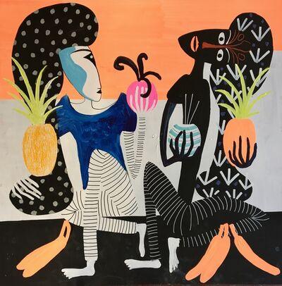 Frantisek Florian, 'African figures 17', 2018