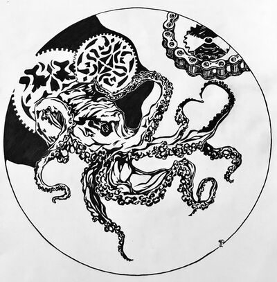 Liudmila Panenkova, 'Octopus vs Transmission', 2017