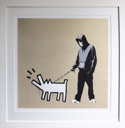 Banksy, 'Choose Your Weapon (Gold)', 2010