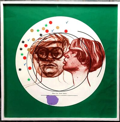 R. B. Kitaj, 'Plays for Total Stakes (Portrait of David Hockney and Peter Schlesinger), Kinsman 1994 32, Ramkalawon 2013 32a ', 1968