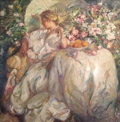 Jose Royo, 'Dama Sentada en el Jardin', 1992
