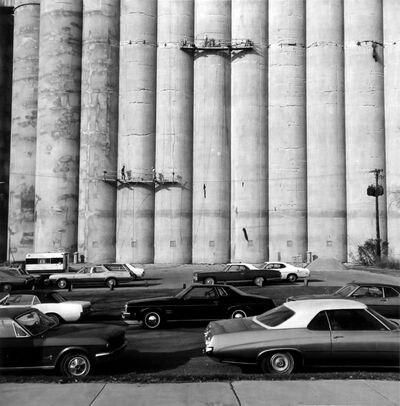 Frank Gohlke, 'Grain Elevator being repaired- Minneapolis, Minnesota', 1974