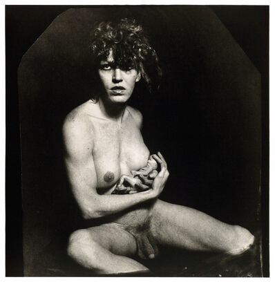 Joel-Peter Witkin, 'Androgyny Breastfeeding a Fetus', 1981