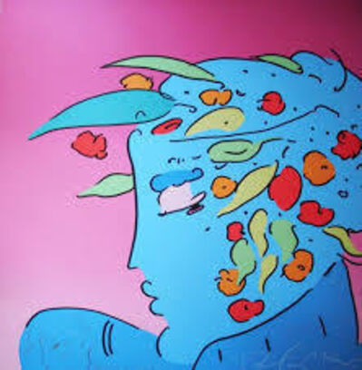 Peter Max, 'Blue Lady Planet - Limited Edition Serigraph by Peter Max', 1989