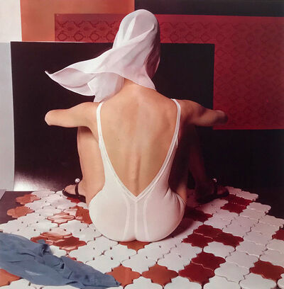 Horst P. Horst, 'White Lingerie on French Ceramic Tiles', 1963; Printed later