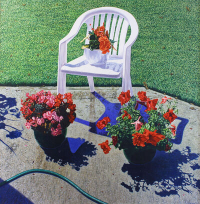 Robert Lemay, 'Patio with Flower Pots & Chair', ca. 1991