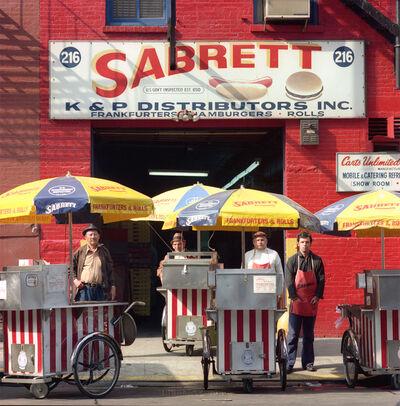 Neal Slavin, 'Sabrett Hot Dog Vendors, NYC', 1974