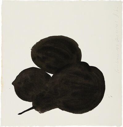 Donald Sultan, 'Pear, Lemon, Egg', 1985