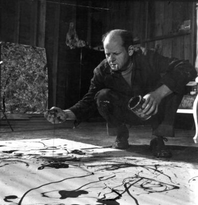 Martha Holmes, 'Jackson Pollock in his studio, Springs, Long Island, New York', 1949