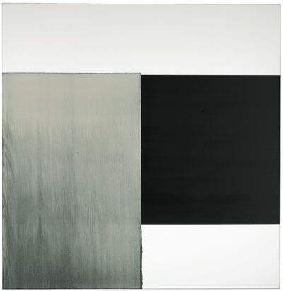 Callum Innes, 'Exposed Painting Charcoal Black, GoldGreen', 2000