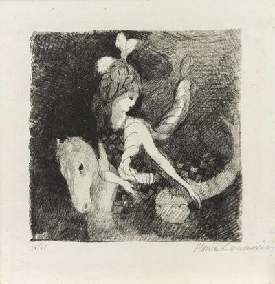 Marie Laurencin, 'The Plumed Horsewoman (La Cavalière), 1926 and Fillette, 1945 (a group of 2)'