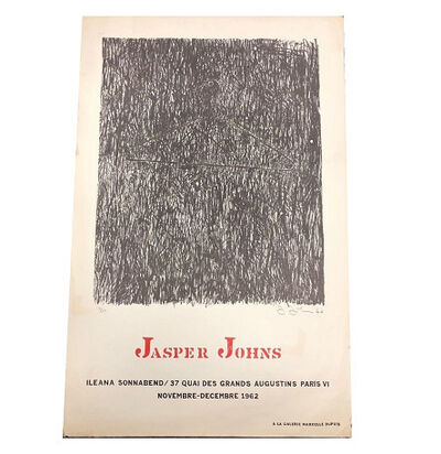 "Jasper Johns, '""JASPER JOHNS"", Exhibition Poster, Ileana Sonnabend Paris.', 1962"