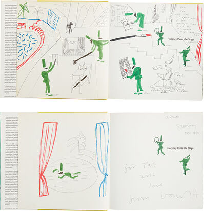 David Hockney, 'Hockney Paints the Stage: two books with hand-drawings', 1983