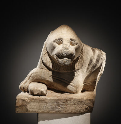 Unknown Egyptian, 'A Guardian Statue of a Recumbent Lion'