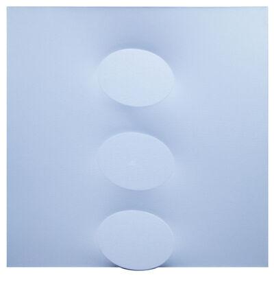 Turi Simeti, '3 ovali azzurri', 2017