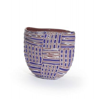 VETRERIA PAGNIN, 'A fully milled polychrome murrine vase', circa 2000