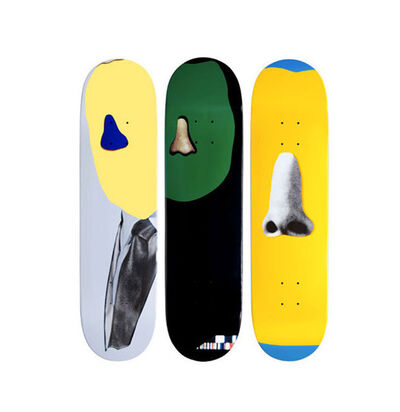 John Baldessari, 'Supreme skateboard set of 3', 2010